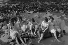 Students of the J.J School of Arts at a picnic. Bombay, 1937