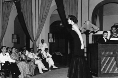 Laura Hamilton the well-known singer from Britain performing at the Regal theatre in Delhi