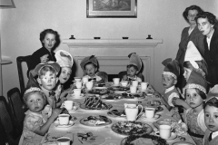 A Christmas Party at the residence of Lady Clutterbuck, the wife of the British High Commissioner. Delhi, Early 1950s