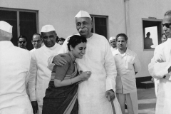 Indira Gandhi with G.B. Pant, the Union Home Minister, who was one of the Congressmen who persuaded her to stand for elections for the post of Congress Party President