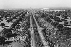 Aerial View of the Republic Day Parade in Delhi taken from the top of India Gate in 1951