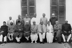 The first Cabinet of Nehru after the Swearing-In of Chakravarti Rajagopalachari as Governor-General. Delhi, 1948