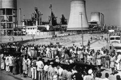 Queen Elizabeth visiting the Durgapur steel plant in 1961